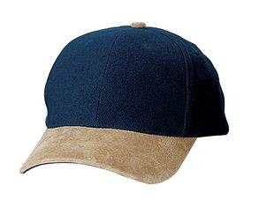; Port Authority; Two Tone Brushed Twill Cap with Suede Visor. BTS