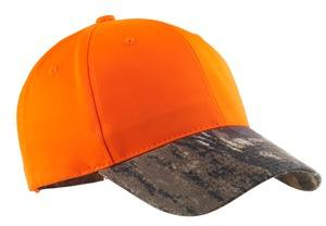 Port Authority; Safety Cap with Camo Brim. C804