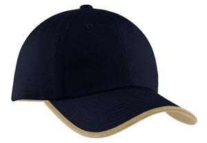 ; Port & Company; Twill Cap with Contrast Visor Trim and Underbill. CP87
