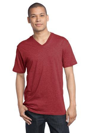 District Made  Mens Perfect Weight V Neck Tee. DT1170
