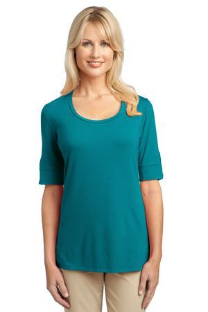 Port Authority; Ladies Concept Scoop Neck Shirt. L541