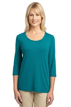 Port Authority; Ladies Concept Rope Neck Shirt. L542