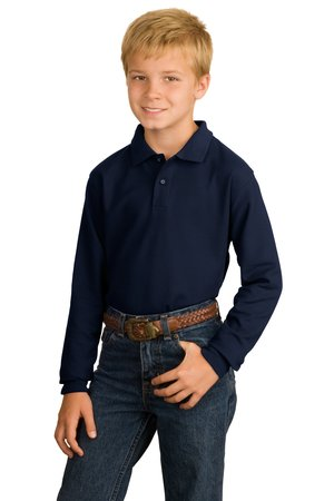 ; Port Authority; Youth Long Sleeve Silk Touch Polo. Y500LS