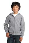 Gildan Youth Heavy Blend  Full Zip Hooded Sweatshirt. 18600B