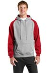 ; Sport Tek; Colorblock Pullover Hooded Sweatshirt. F263