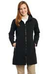 Port Authority; Ladies Long Textured Hooded Soft Shell Jacket. L306