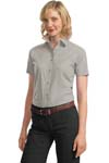 Port Authority; Ladies Short Sleeve Value Poplin Shirt. L633