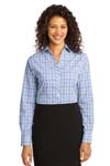 Port Authority; Ladies Crosshatch Plaid Easy Care Shirt. L641