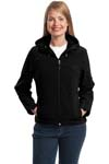 Port Authority; Ladies Textured Hooded Soft Shell Jacket. L706