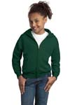 Hanes; Youth Comfortblend EcoSmart Full Zip Hooded Sweatshirt. P480
