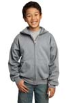Port & Company; Youth Full Zip Hooded Sweatshirt. PC90YZH