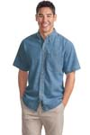 Port Authority; Short Sleeve Denim Shirt. S500