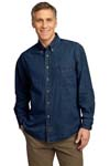 ; Port & Company; Long Sleeve Value Denim Shirt. SP10